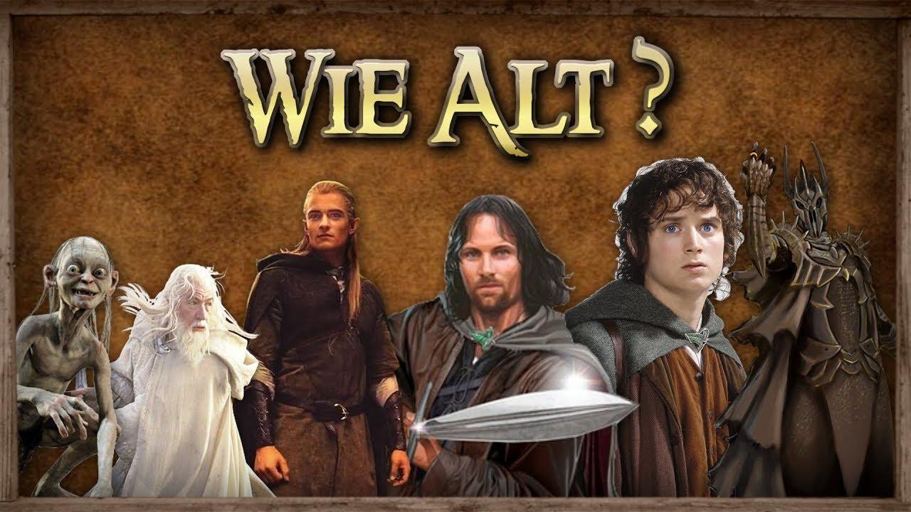 Wie Alt Sind Die Herr Der Ringe Charaktere Der Herr Der Ringe Der Hobbit Youtube