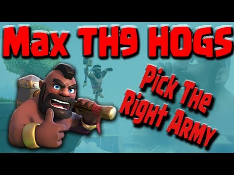 TH9 HOGS Shattered or Stoned GoHo | How To Pick The Right 3 STAR ATTACK | Clash of Clans