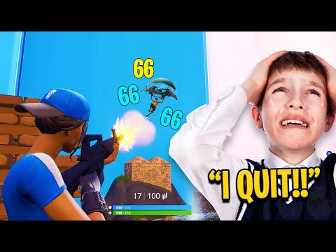 Fortnite Zone Wars in Playground Fills (KID RAGES)