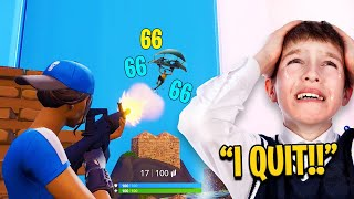 Fortnite Zone Wars in Playground Fills (KID RAGES)