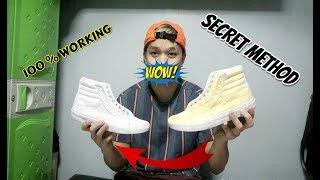 pano PAPUTIIN ang naninilaw na SAPATOS ( SECRET METHOD ) Ukay shoes + Shoes GIVEAWAY WINNER
