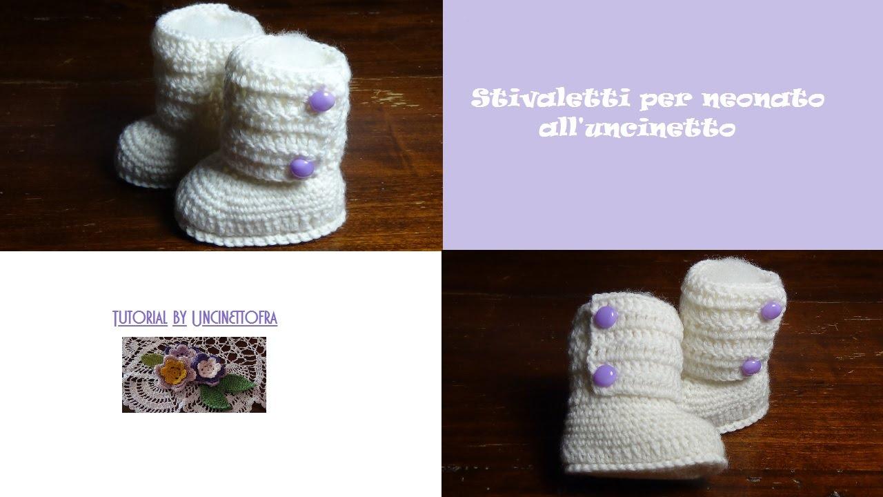 Top Stivaletti per neonato all'uncinetto - YouTube PZ17