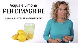 Acqua e limone per dimagrire con ricetta per perdere peso