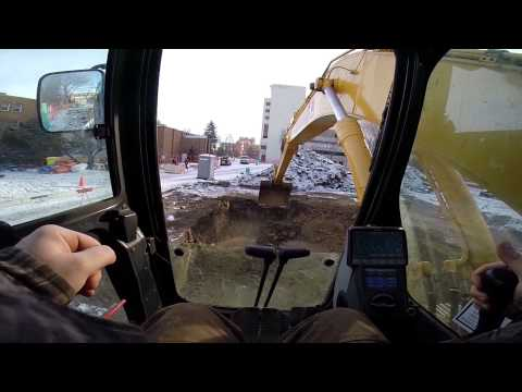 Tower Crane Base Excavation Full Komatsu 350 (PoV HD)