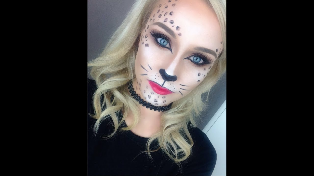 Glamorous Leopard / Cat Makeup Tutorial ♡ Perfect for Halloween ...
