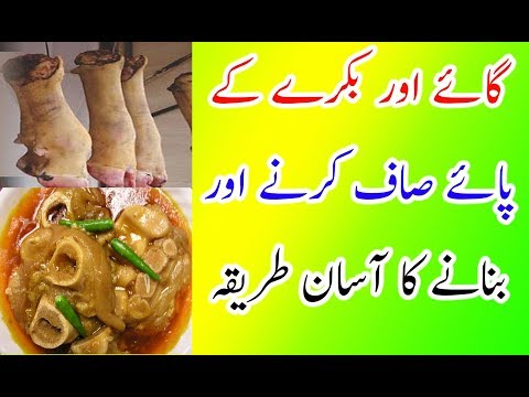 How to Clean Trotters (Payee) of Cow or Goat!#Cow And Goat K Paye Saaf Kane Ka Asan Tarika