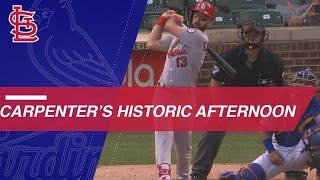 Matt Carpenter belts 3 HRs, 2 doubles in 5-hit day vs. Cubs