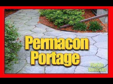 Pave uni Permacon Portage Uni-Stone installation in the West Island of Montreal.