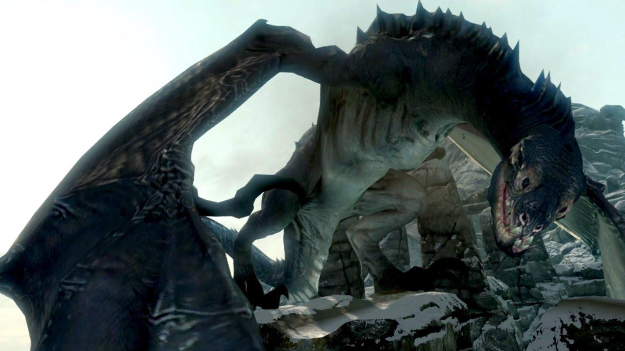 Skyrim DRAGONBORN: SERPENTINE DRAGON Encounter! (LEGENDARY ...
