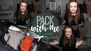 PACK WITH ME: NEW YORK EDITION! ♡ | Brogan Tate