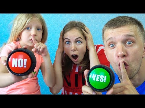 Milana and her parents Pretend play silence! Funny story for kids