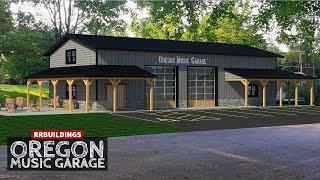 Timelapse Build: Oregon Music Garage #postframe #garage