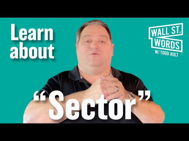 Wall Street Words word of the day = Sector