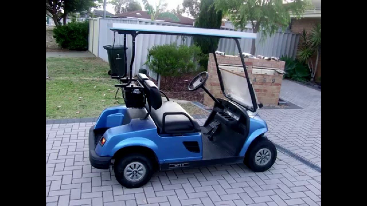 electric golf buggy cart diy roof solar panel system charge batteries youtube [ 1280 x 720 Pixel ]