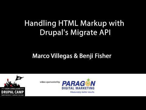 Handling HTML Markup with Drupal's Migrate API thumbnail