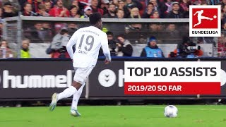 Top 10 Best Assists 2019/20 So Far - Coutinho, Sancho, Alario & More