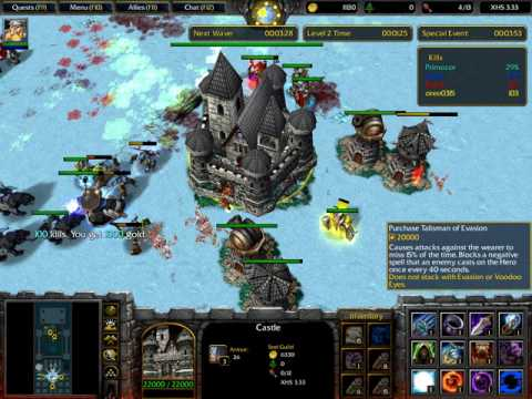 Warcraft 3: X Hero Siege! Practice Run