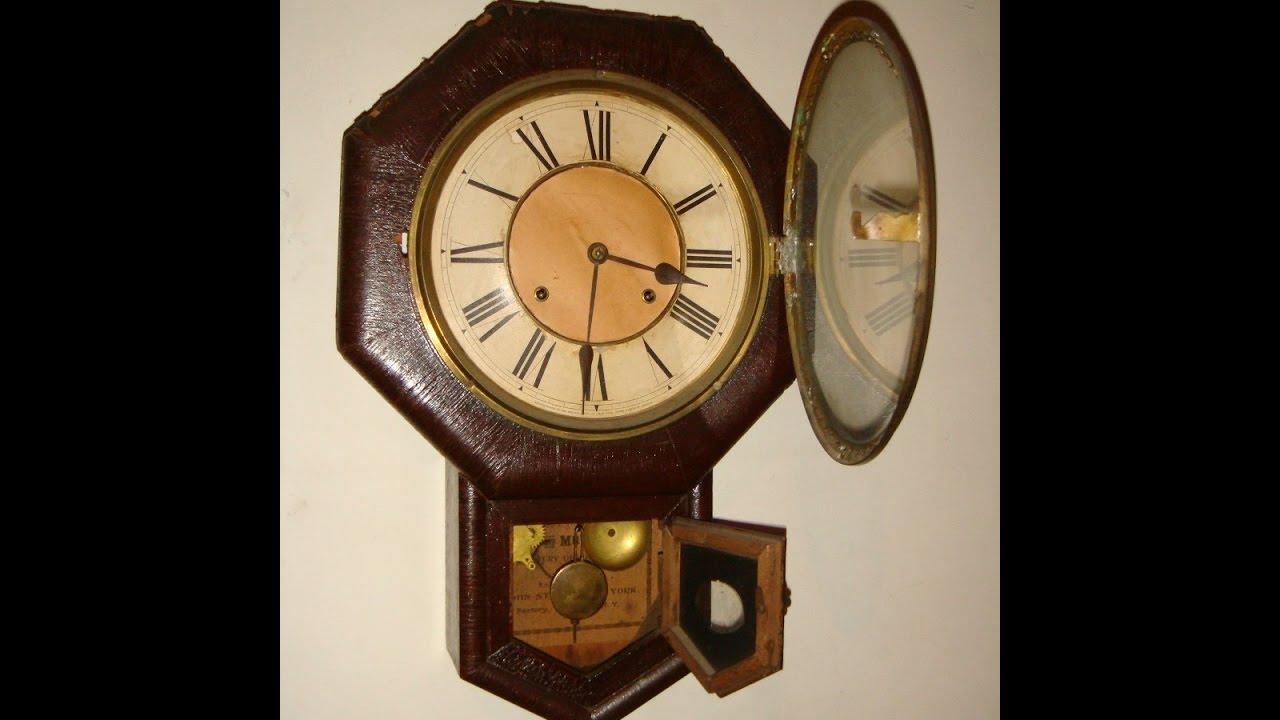 Ansonia wall clock repair youtube ansonia wall clock repair amipublicfo Choice Image