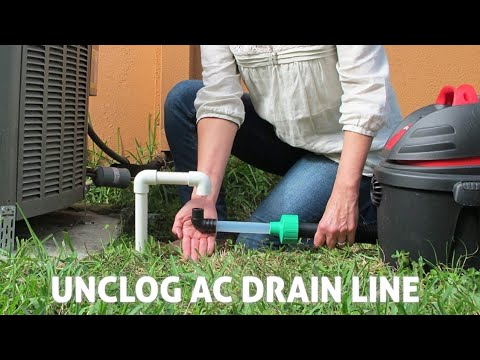 Clear AC Condensate Drain Line with a Shop Vac