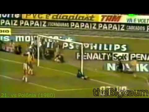 ZICO  All Goals For Brazil