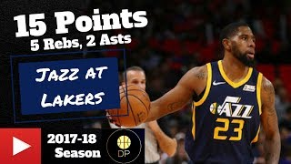 Royce O'Neale at Lakers 4/8/18 | 15 Pts, 5 Rebs, 2 Asts