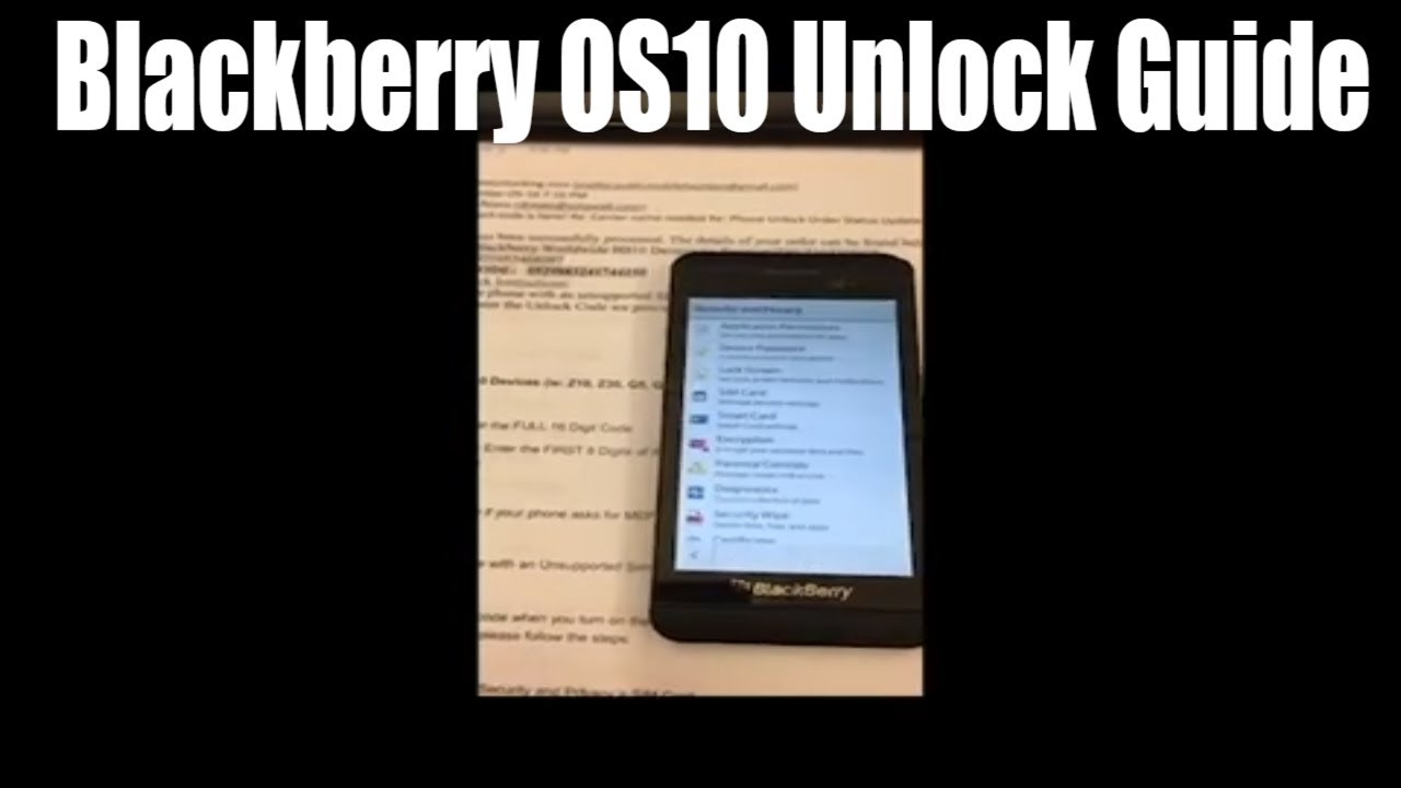 Official Blackberry Unlocking Solution for the USA, Canada, UK