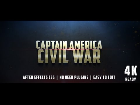 civil war cinematic trailer — after effects project | videohive, Powerpoint templates