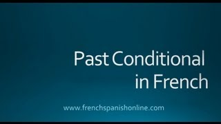 past conditional in French