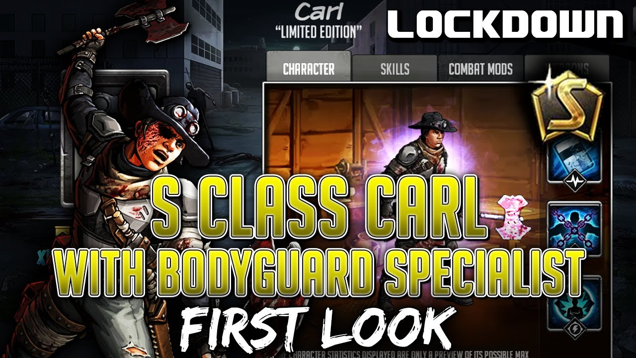 TWD RTS: S Class Carl, Specialist Bodyguard - First Look - The Walking Dead: Road to Survival Leaks
