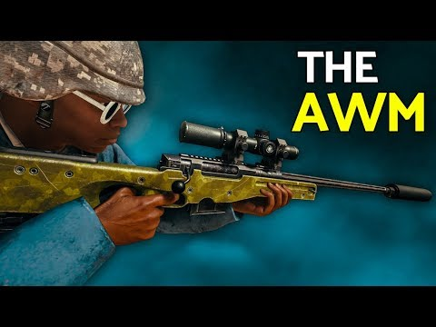 PUBG | The AWM is a Beast (AWM + M16A4 Gameplay)