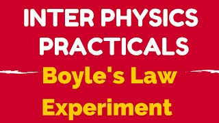 physics practical boyle's law experiment video