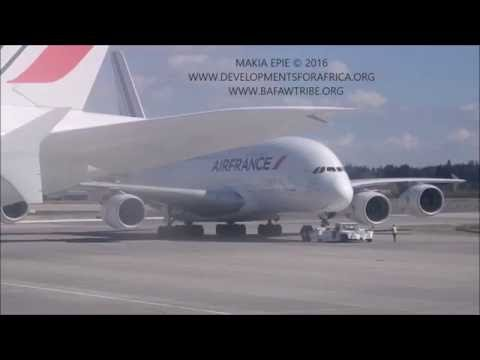 B777 TAKE OFF - JFK - LANDING PARIS to DOUALA - 25 MINUTES