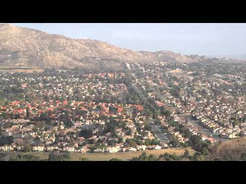 Moreno Valley California Birds Eye View from M Mountain