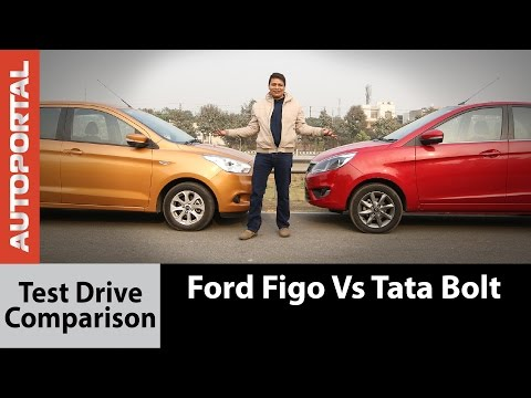 Tata Bolt vs Ford Figo Test Drive Comparison Review - Autoportal