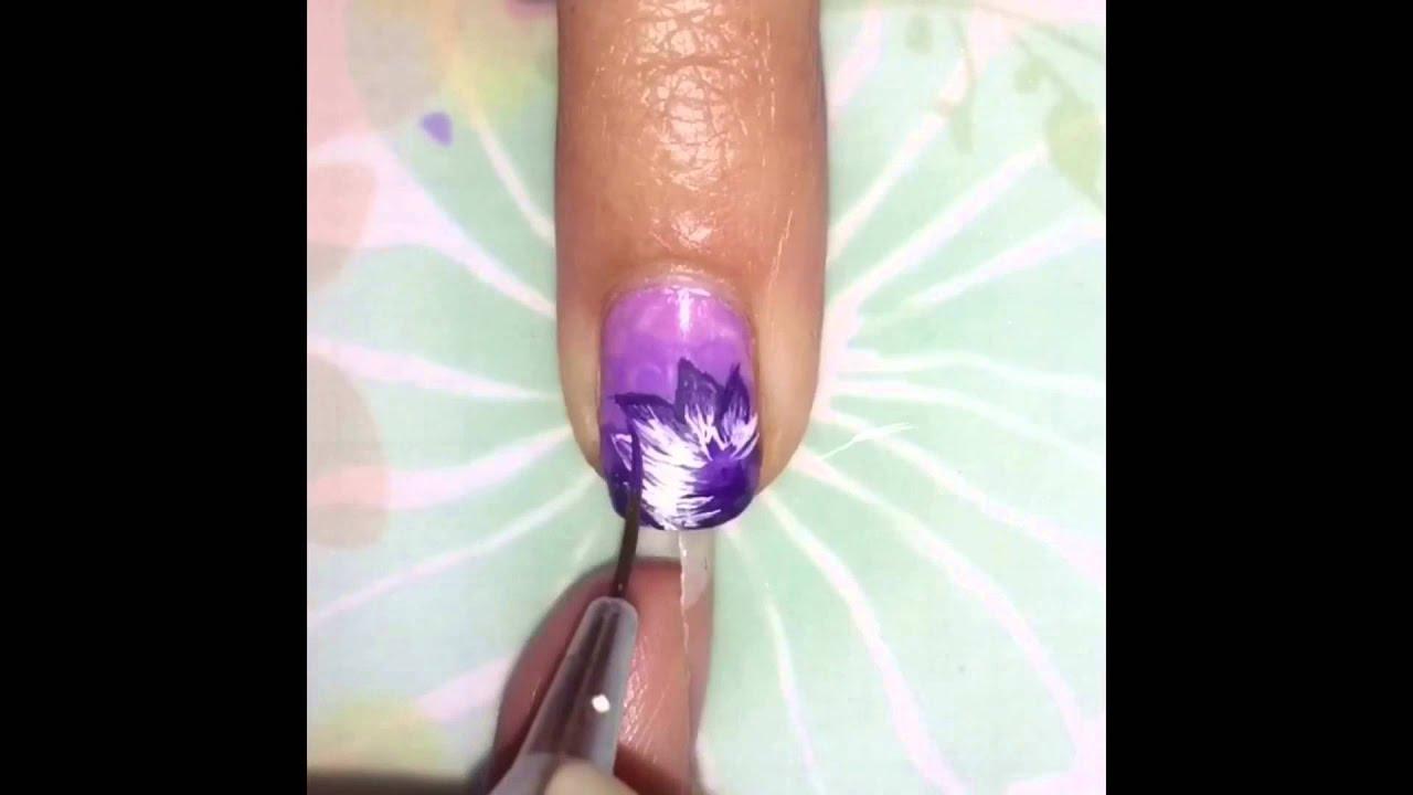 Lotus flower nail art youtube lotus flower nail art dhlflorist Image collections