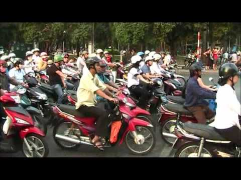Crazy Street Traffic in Saigon (Ho Chi Minh City), Vietnam
