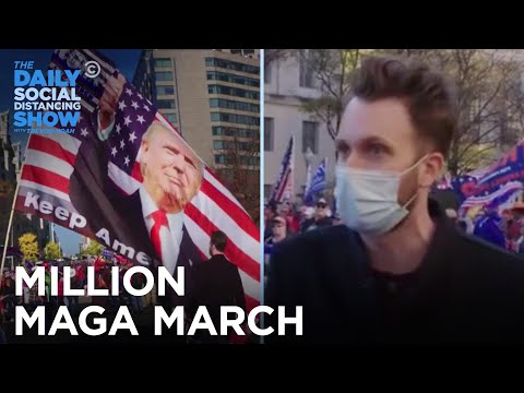 Jordan Klepper Takes On the Million MAGA March   The Daily Social Distancing Show