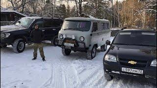 Totota Land Cruiser 105 vs Chevrolet Niva vs UAZ-452. Off-road