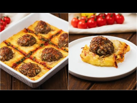 Potato and meatballs cake a tasty dish ready in no-time