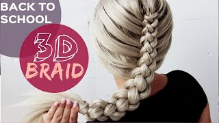 3D Braid / Dutch Box Braid perfect for Back to School by Another Braid | 2019