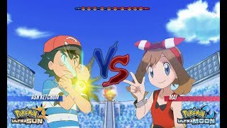 Pokemon Battle USUM: Ash Vs May (Pokemon Companion Wifi Battle)