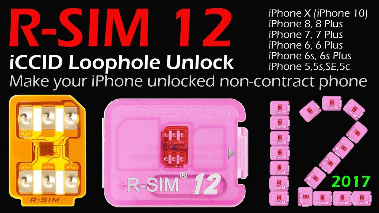 2018 NEWEST VERSION R-SIM 12 Smart Nano Unlock Card For iPhone  X/8/8P/7/7P/6P/6/6S,