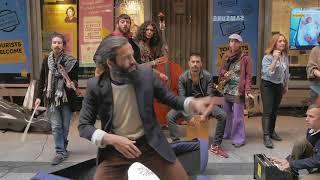 Amazing street band Ataca Paca live in Madrid