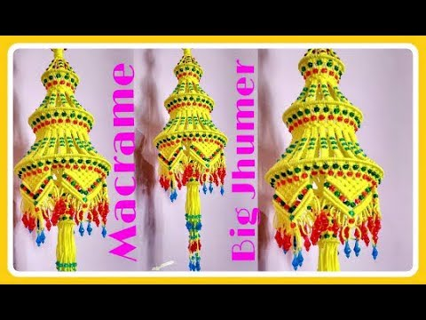 Easy Tutorial Of Macrame Big Jhumarchandelier At Home