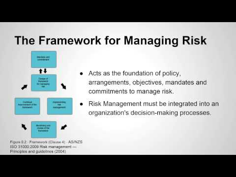 Risk Management Standard AS/NZS ISO 31000:2009 Overview