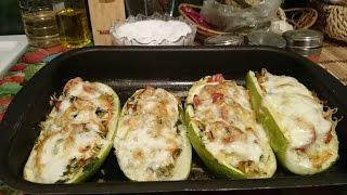 Фаршированные кабачки в духовке с сыром Рецепт блюда как приготовить кабачки на ужин вкусно пошагово