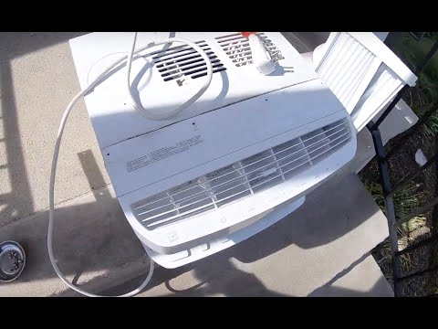 Window AC Maintenance Cleaning Plugged Condenser