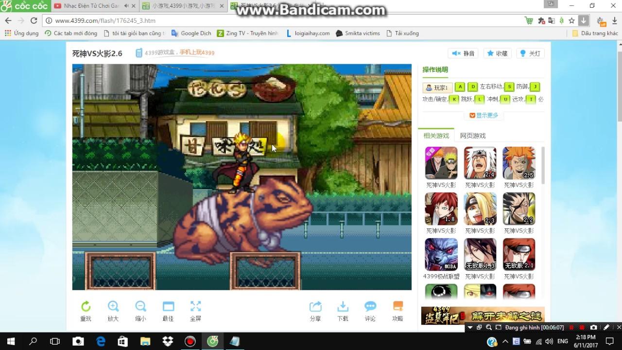 Hướng Dẫn Chơi Game Đối Kháng Naruto Trên 4399