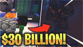 We placed $30 BILLION worth of SPAWNERS... | Minecraft Skyblock