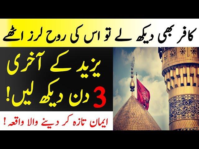Yazeed Kay Akhri 3 Din | Yazeed Kesi Mout Mara Mukamal Qissa | Islamic  Solution
